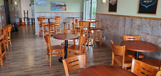 Fall River Brewing Company Taphouse's dining room area is seen on March 16, 2020, three days before Gov. Gavin Newsom called on restaurants and bars to close and ordered Californians to stay home to slow the spread of coronavirus.