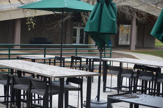 While the Starbucks at Shasta College closed, along with most campus facilities, other Starbucks locations in Redding are open for drive-through purchases.