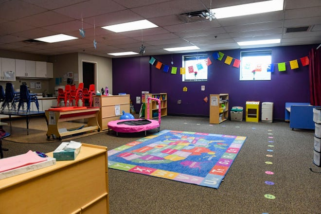 EmBe's daycare facilities are empty for several days due to concerns with the coronavirus on Monday, March 16, in Sioux Falls.