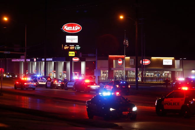 Four people were killed, including a Springfield Police officer, by an active shooter March 15, 2020 at a Kum & Go on East Chestnut Expressway. The shooter was also found dead with a self-inflicted gunshot wound.