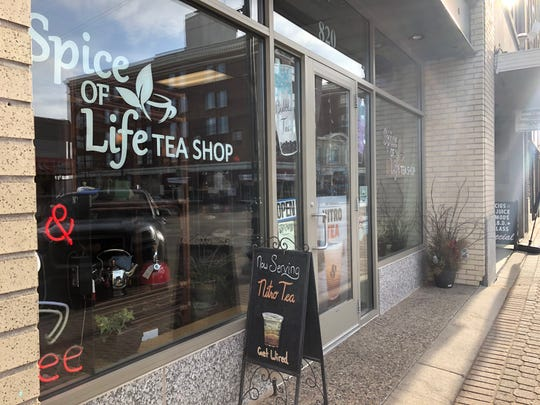 Spice of Life Tea Shop was open Friday, March 13, 2020. Owner Terri Emmerich said she did not really see much of coronavirus's effect on foot traffic downtown until Thursday, though business did pick up Friday and was steady Monday as well.