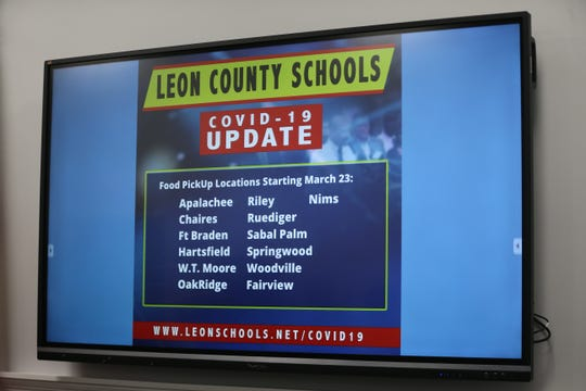 Leon County Schools officials announced a list of schools where meals would be distributed during a news conference held at Leon County Schools on COVID-19 Monday, March 16, 2020.