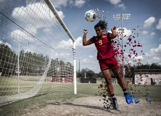 Florida High senior forward Janae Scott is the 2020 All-Big Bend Player of the Year in girls soccer after scoring 31 goals with 11 assists during the SeminolesÕ 11-win season that ended in the Class 3A regional semifinals.