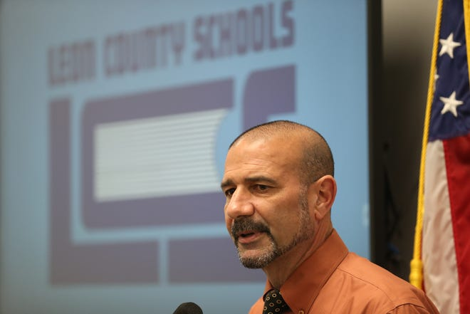 Superintendent Rocky Hanna speaks during a news conference held at Leon County Schools on COVID-19 Monday, March 16, 2020.