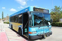 A Treasure Coast Connector bus in St. Lucie County.