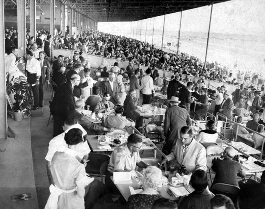 10/10/1959  Sunland Park Racetrack - The El Paso Southwest turned out en masse for the opening of Sunland Park's 45-day racing season Friday.