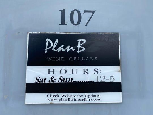 Plan B Wine Cellars in Ventura closed Sunday because of the coronavirus crisis.