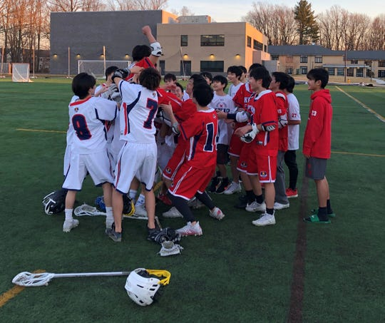 Keio had time for one last huddle on March 9, 2020, the first official day of practice and the last official day of the season for the school, which closed due to concerns over coronavirus.