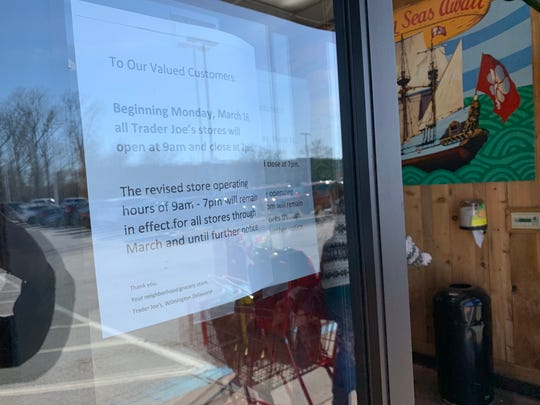 Trader Joe's is reducing it's hours from 8 a.m. to 9 p.m.  to 9 a.m. to 7 p.m. in response to COVID-19.  The new hours will be in effect until further notice.