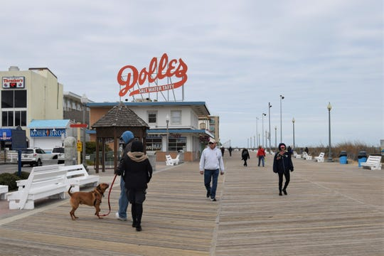 Despite Delaware leaders calling for a state of emergency in light of the coronavirus outbreak, people were still out and about on the Rehoboth Beach Boardwalk and checking out beach stores on Monday afternoon.