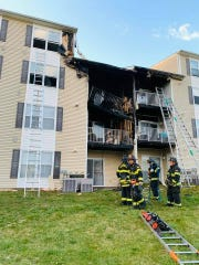 A fire at the Rockwood Apartments near Pulaski Highway displaced six people Sunday night.