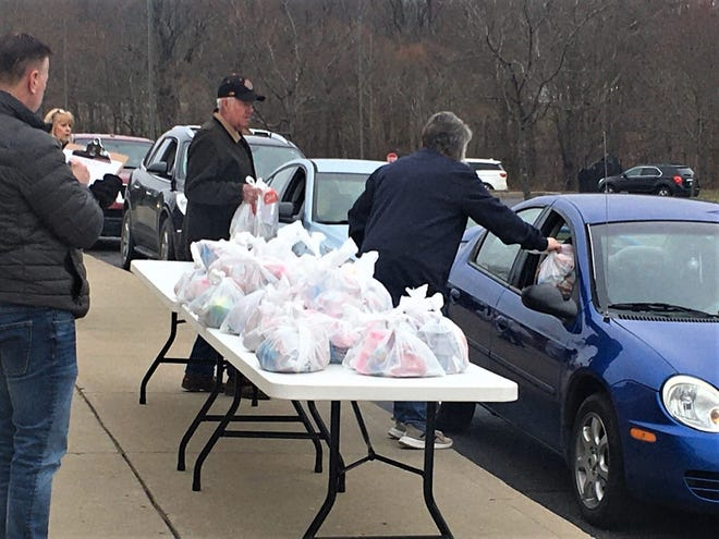 New Lexington School District is distributing meals for students in a drive thru setting at two convenient locations in the district.