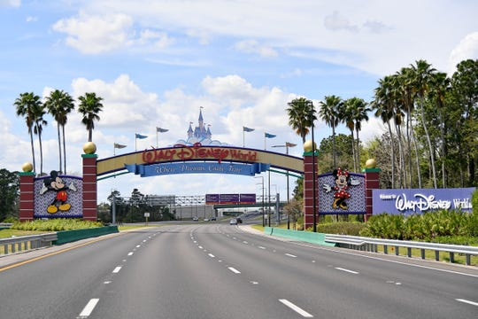 Walt Disney World in Orlando, Florida, closed down Sunday night in response to the pandemic.