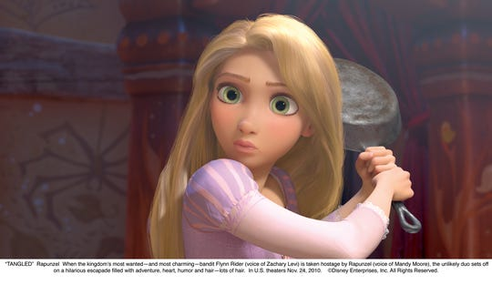 """Those self-quarantining can take notes from """"Tangled"""" heroine Rapunzel, who has come up with plenty of activities to keep her busy while trapped in a tower, from cooking to candle-making. (In the movie, she defends herself with a frying pan when an intruder enters her home.)"""