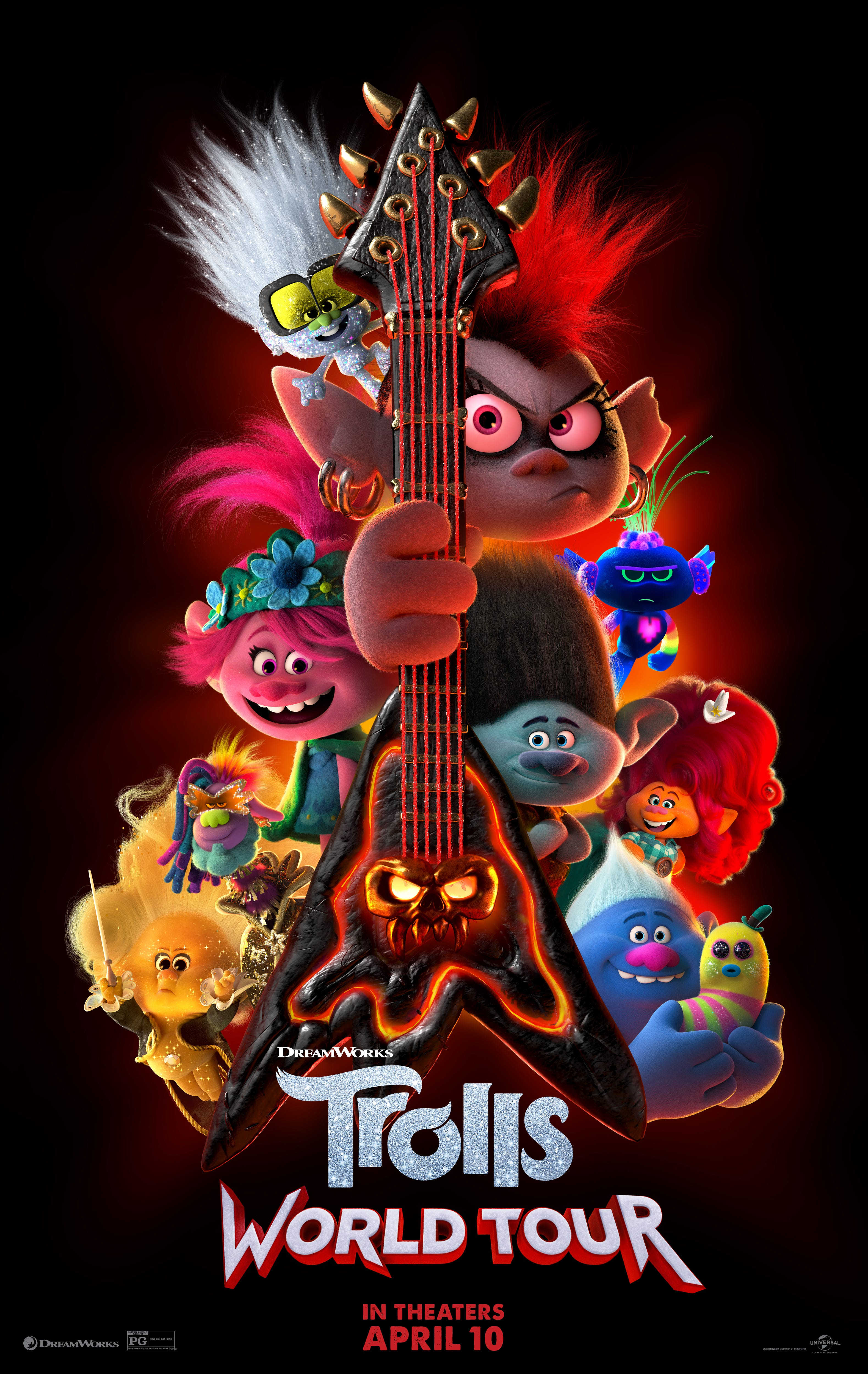 "The animated sequel ""Trolls World Tour"" will release simultaneously digitally and in theaters because of coronavirus concerns."