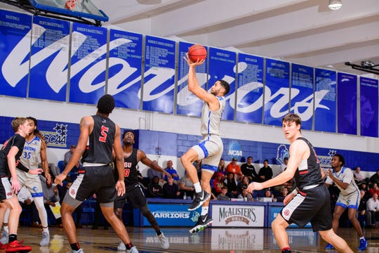 Southern Wesleyan senior Clenzo Ross was named to All-Conference First Team, averaging 17 points per game.