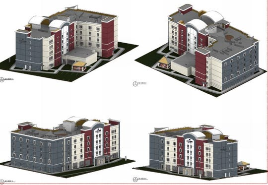 A five-story, 103-room Candlewood Suites is under development in the parking lot of the Innsbruck Mall on Tunnel Road.