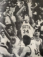 Dennis Browne at South Kitsap, where he led the Wolves to a 1986 Narrows League title.