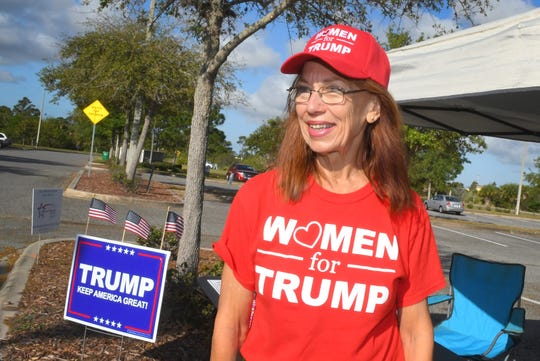 """Len Silver says don't ever let yourself be dissuaded by the idea that I'm only one vote."""" She was supporting President Donald Trump at a polling site at the Wickham Park Community Center in Melbourne."""