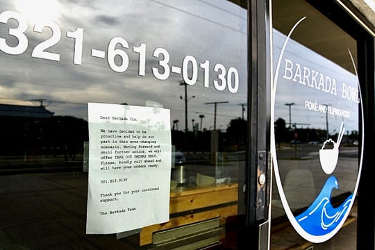 Barkada Bowl Poke and Filipino Food in Cocoa Beach has closed its dining room and is offering takeout orders only.