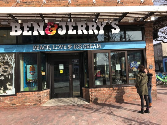 Ben & Jerry's was among many stores on Church Street that have closed because of the coronavirus pandemic.
