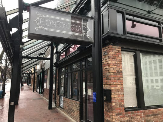 Lights off: Honey Road restaurant at Church and Main streets in Burlington closed its doors for the foreseeable future on March 17, 2020. The rapid spread of a new coronavirus has forced businesses and services throughout Chittenden County to close or restrict hours.