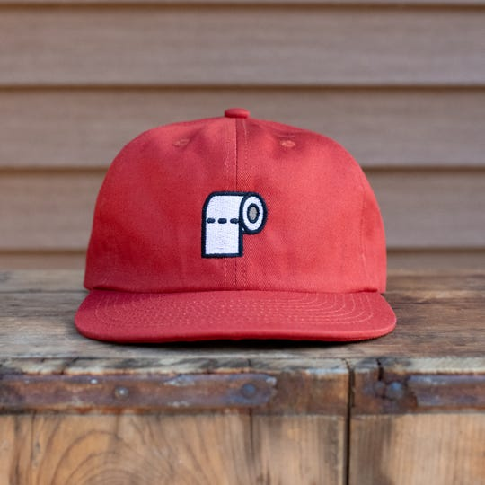 New Duds, an embroidery and screenprinting business based in Colchester, created this toilet paper hat. All profits go to local nonprofit organization Feeding Chittenden to assist with response to the coronavirus pandemic.