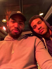 Jason Thompson, left, and his brother Ryan were in Israel in late January, both players are playing basketball overseas.