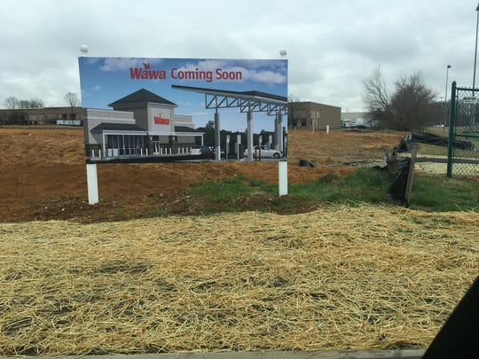 A new Wawa is coming to Rancocas Road in Westampton, next to a TD Bank and near Interstate 295. The location is next to the Westampton Sports Complex and nearby Benjamin Banneker Charter School. This photo shows the land has been cleared and construction will likely begin soon.