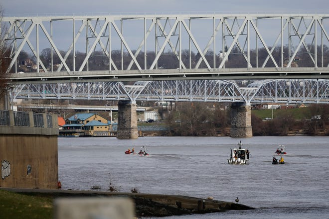 An SUV was spotted floating in the Ohio River Tuesday afternoon, police said.