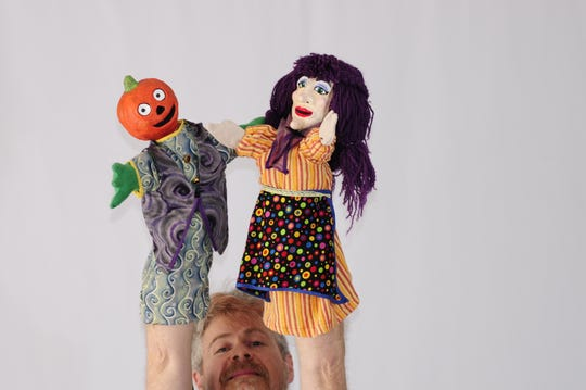 Puppeteer Terrence Burke – he's the won hiding below the puppets – is offering weekly puppet shows and workshops on the Wump Mucket Puppets Facebook page.  They're at 2 p.m. Thursdays.