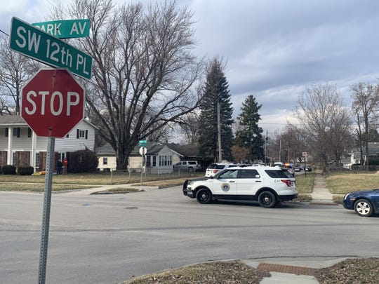 Des Moines police investigate a shooting March 17, 2020 in the 3100 block of Southwest 12th Place on the city's south side. Two people were injured, but are expected to survive, police say.