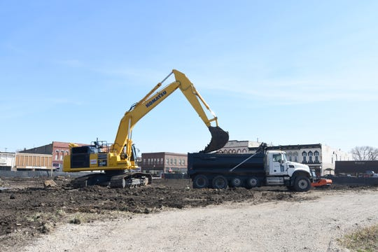Excavation for the Warren County Justice Center was underway on the Indianola Square on March 17. An official groundbreaking ceremony for the project scheduled for March 31 is postponed due to COVID-19 social distancing guidelines.