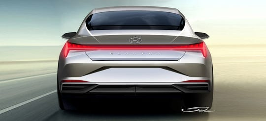"The 2021 Hyundai Elantra's tail lights were designed to resemble the brand's stylized ""H"" logo."