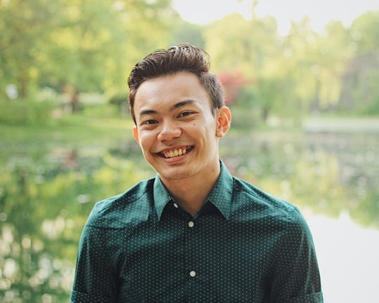 Louis Bryxter Navalta, 20, from Clinton Township, is a junior in the University of Michigan's School of Nursing. He and many of his fellow nursing students are staying on campus during the coronavirus outbreak to complete their clinical rotations at area health care centers.