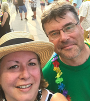 Ted Kulfan and wife Angela at a Jimmy Buffett concert at DTE in 2017.