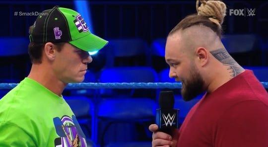 "John Cena and Bray Wyatt on WWE ""Smackdown."""