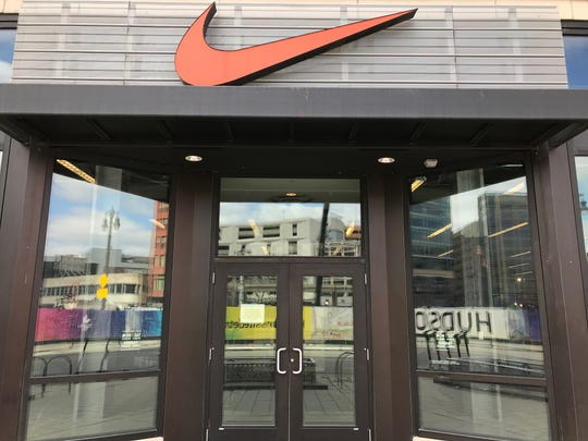 The Nike store on Woodward Avenue in downtown Detroit is closed, as are other Nike stores around the U.S.