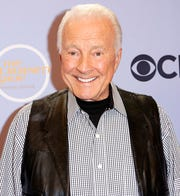 "In this Oct. 4, 2017, file photo, Lyle Waggoner arrives at the ""The Carol Burnett 50th Anniversary Special"" in Los Angeles. Waggoner, who played comic foil on the show, has died. He was 84."
