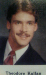 Ted, sorry, Theodore Kulfan in his younger days. We give that stache a 10 out of 10!