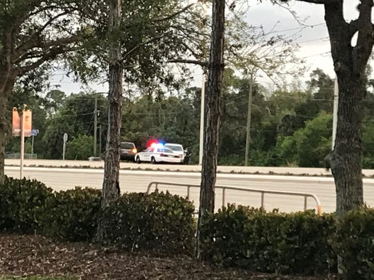 A portion of U.S. 41 by Estero Parkway was shut down Tuesday night as the Florida Highway Patrol was investigating a fatal vehicle-pedestrian crash.