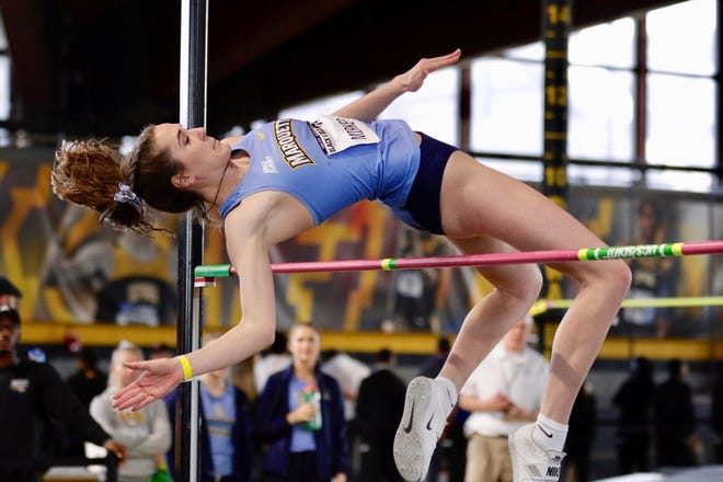 Former De Pere track and field star and Marquette University junior Lindsey Mirkes won the high jump at the the Big East Indoor Championships earlier this month.