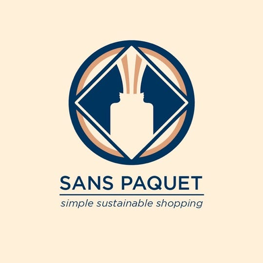Sans Paquet is a waste-free shop. Customers bring their own containers, fill up on soap, shampoo or other items, and then pay by the ounce, minus the weight of the container.