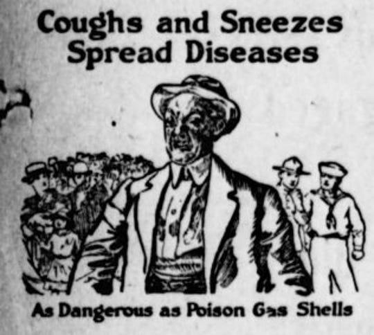 Spanish flu poster.