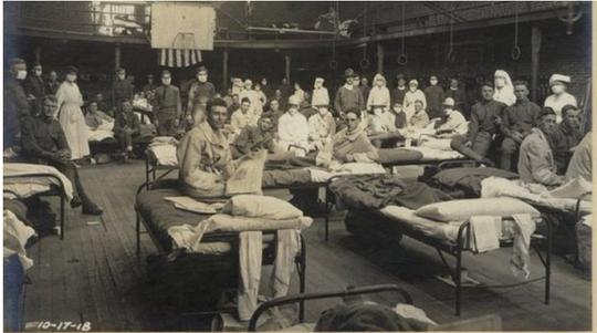 Flu patients, University of Kentucky gym, Oct. 17, 1918