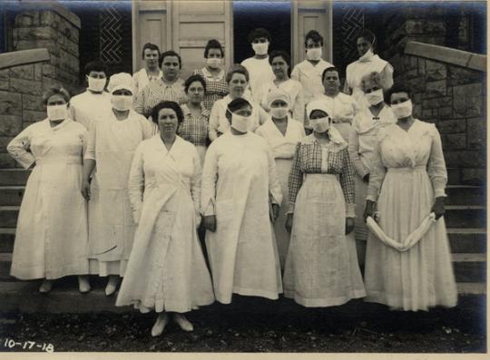Nurses and kitchen staff, New Dormitory Hospital