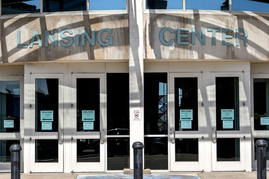 The Lansing Center located at 333 East Michigan Ave., photographed on Tuesday, March 17, 2020, in Lansing.