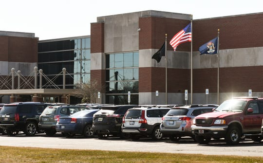 The State of Michigan Treasury Dept. housed inside the State of Michigan Operations Center (Treasury & DTMB) at 7285 Parsons Dr. in Dimondale, pictured Tuesday, March 17, 2020.