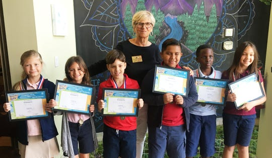 """Kathleen Reynolds with """"Terrific Kids"""" Isla Ray, Lina Oliver, Xavier Fiore, Jastyn Escobedo, Ian Zarate and Meredith Curiale."""
