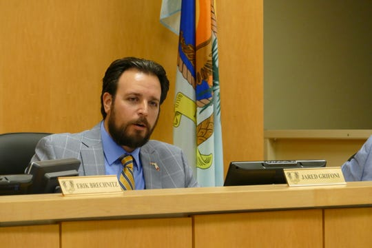 Vice-chair Jared Grifoni speaks during a Marco Island City Council meeting on March 16, 2020.